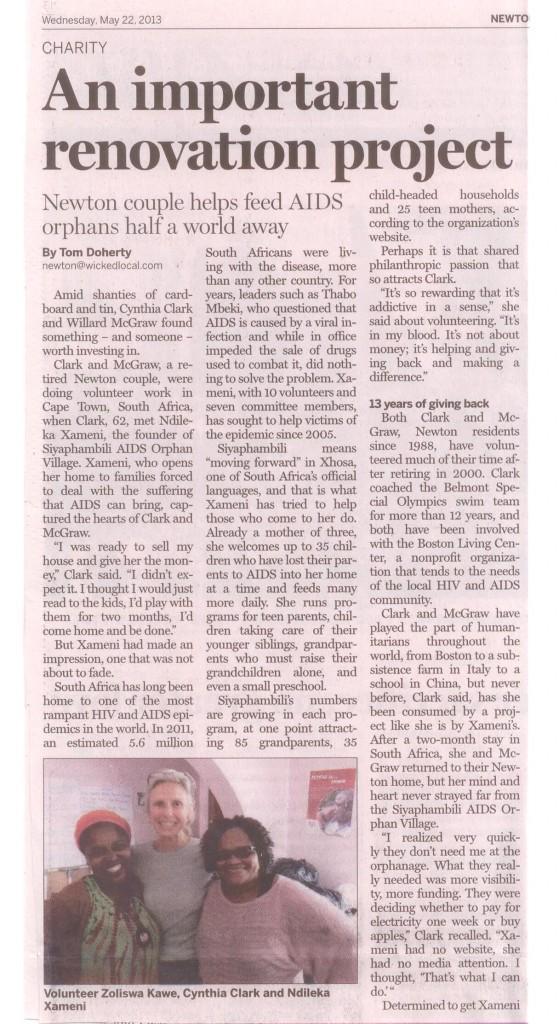 Siyaphambili TAB article page 1