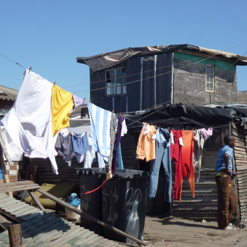 Langa double decker with laundry