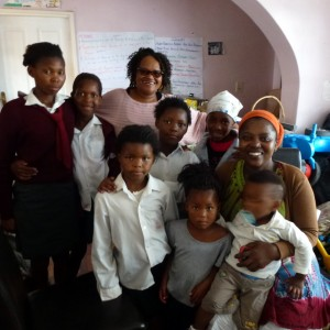 Ndileka and some of her Aids orphans