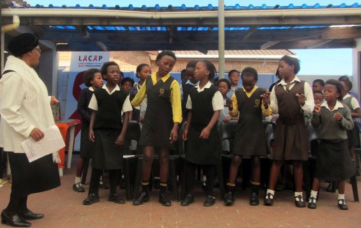 Students singing